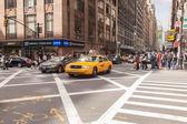 纽约城步行 — 图库照片