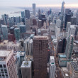 Chicago skyline from hancock tower — Stockfoto #27700169