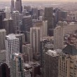 Foto de Stock  : Chicago skyline from hancock tower