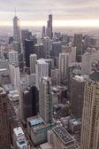 Chicago panoramę miasta z wieży hancock — Zdjęcie stockowe