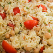 Orzo Salad with Chickpeas & Cherry Tomatoes — Stock Photo