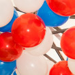 Blue White And Red Balloons — Stock Photo