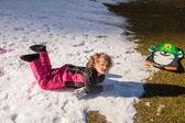 Family Fun in the Snow — Stock Photo