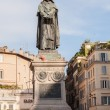 The monument to philosopher Giordano Bruno at the centre of the square. — Stock Photo