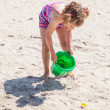 Stock Photo: Playing on the beach