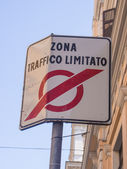 Traffic restricted area — Stock Photo