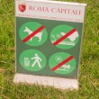 Stock Photo: Stay off grass sign