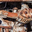 Old rusty compressor — Stockfoto