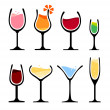 Set of wine glass — Stock Vector #48108777