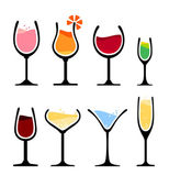 Set of wine glass — Stock Vector