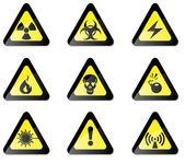 Hazard Sign — Stock Vector