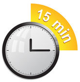 Clock, timer — Vector de stock