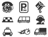 Symbols of taxi services — Vector de stock