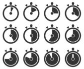 Timer icons — Stock Vector