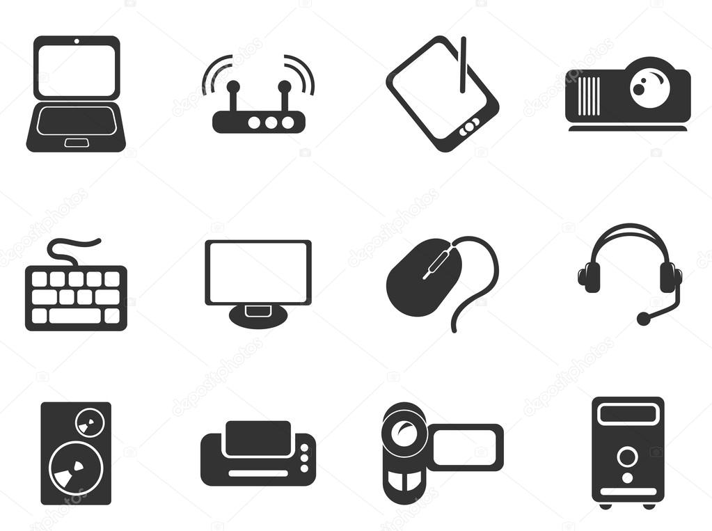 Equipo De Iconos De Mapa De Imagen: Iconos De Computadora Equipo Simple Vector