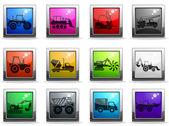 Symbols of Construction Machines — Stock Vector