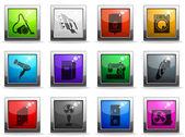 Home Appliances Icon Set — Stock Vector