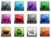 Zestaw ikon wektor witryny sieci web — Wektor stockowy