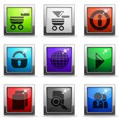 Website Vektor Icon-set — Stockvektor