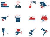Symbols of building equipment — Stok Vektör
