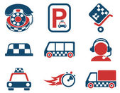 Taxi services icon set — Stock Vector