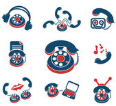 Communication services icons — Stock Vector