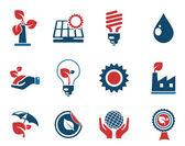 图标集、 能源和工业 — 图库矢量图片