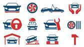 Car services icon set — Stock Vector