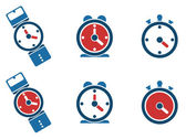 Clock icon, watch, timer. — 图库矢量图片