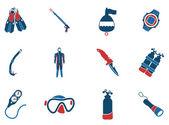 潜水的符号 — 图库矢量图片