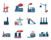Factory and Industry Symbols — Stock Vector
