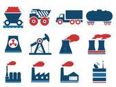 фабрика и промышленности символы — Cтоковый вектор