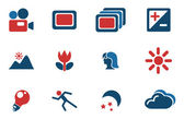 Modes of Photo Silhouette Icons — Stock Vector