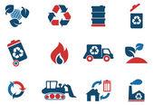Återvinna symboler — Stockvektor