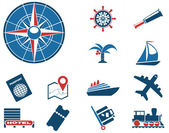 Tourism and Travel Icons — Stock Vector
