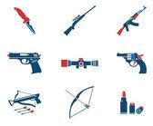 Simboli di arma — Vettoriale Stock