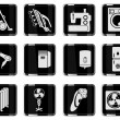 Home Appliances Icon Set — Stock Vector