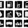 Oil and petrol industry objects icons — Stock Vector