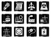 Icon Set, Energy and Industry — Stock Vector