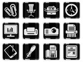 Media vector glossy icon set — Stock vektor