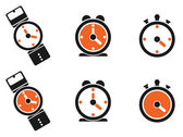 Clock icon, watch, timer — Stock Vector