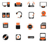 Media vector icon set — Stockvector