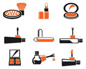 Make-up products icons — Stock Vector