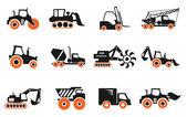 Symbole maszyn budowlanych — Wektor stockowy