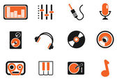 Audio & music simple vector icons — Stock Vector