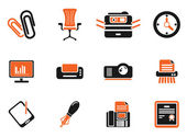 Office simple vector icons — Stock Vector