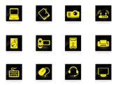 Computer equipment simple vector icons — Stockvektor