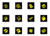 Information carriers icons — Stock Vector