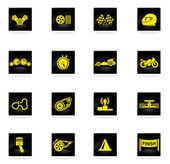 Icone di corse — Vettoriale Stock