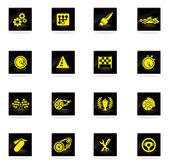 Wyścigi ikony — Wektor stockowy